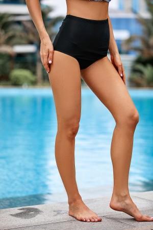 Shaping Black High Waisted Bikini Bottom