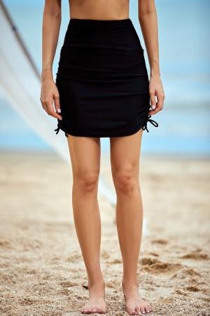 Tummy Control Ruched Skirt Bottom