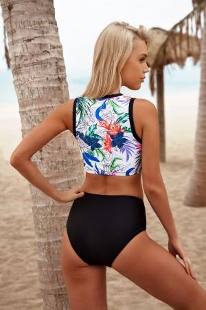 Floral Batebu Mid Waist Beautiful Two Piece Bikini Set